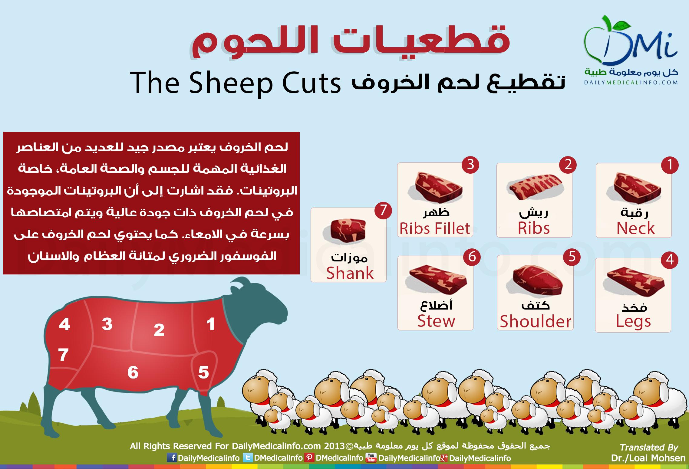 تقطيع لحم الخروف