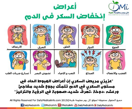 أعراض انخفاض السكر في الدم