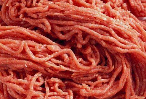 إي كولاي: اللحوم