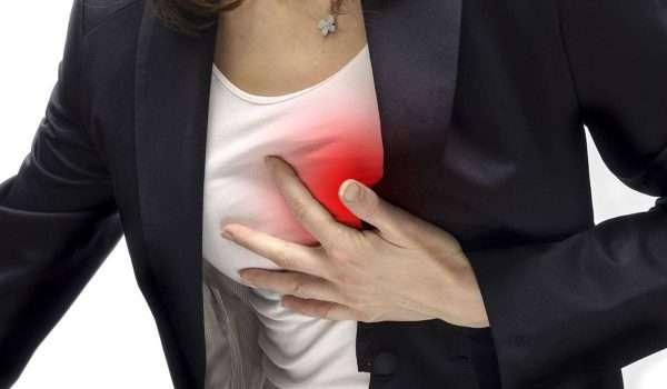 اعراض الازمة القلبية عند النساء