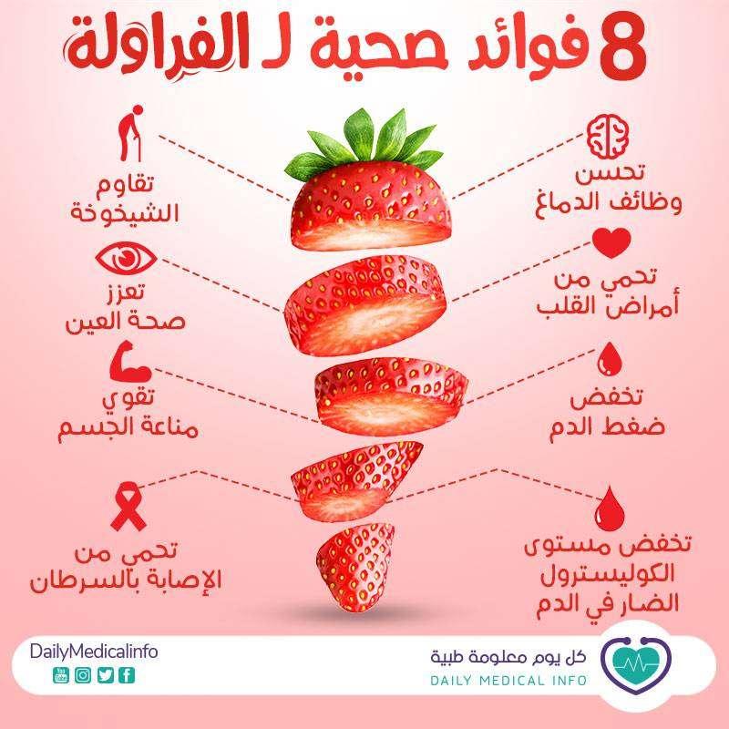 فوائد الفراولة