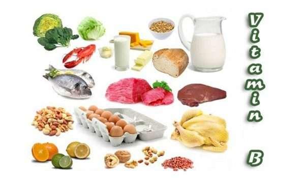 فيتامين ب في الطعام