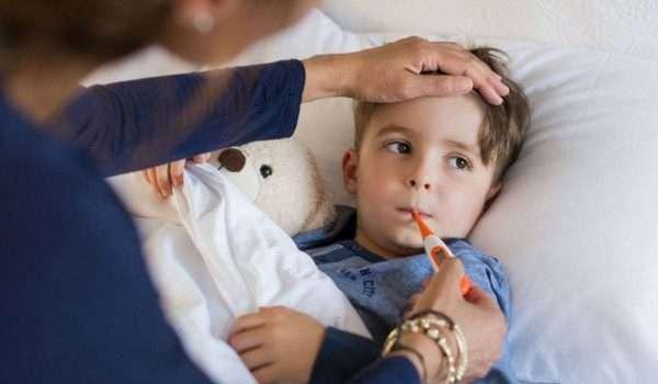 علاج ارتفاع الحرارة عند الاطفال في المنزل